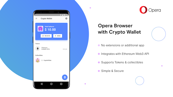 Opera Browser With Built-in Crypto Wallet a World's First