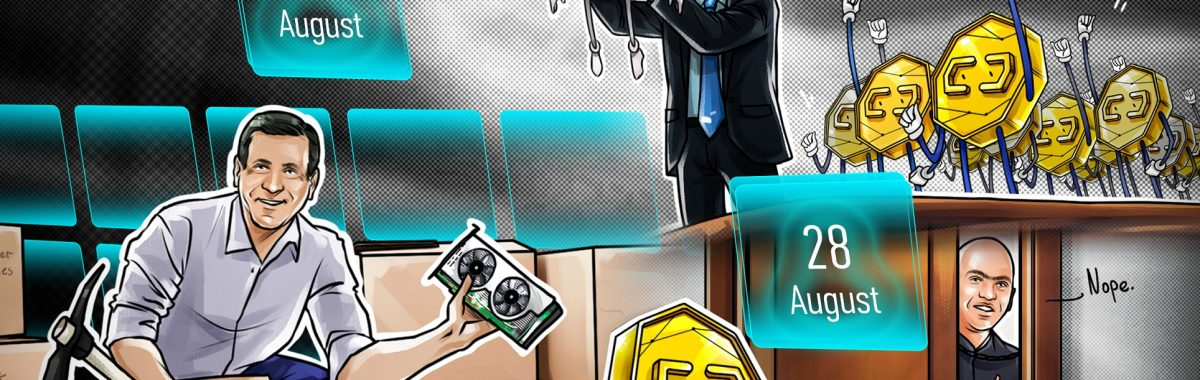 US Congress submits 18 crypto bills in 2021, Visa buys $150K CryptoPunk, MicroStrategy snaps up more BTC: Hodler's Digest, Aug. 22-28